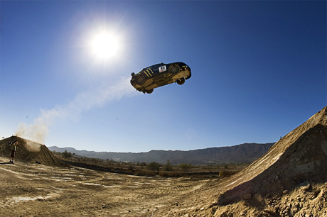 flying subaru wrx