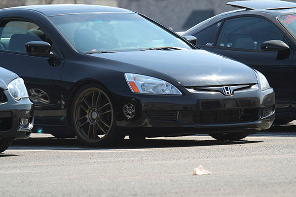 2003 accord with 19 inch gold rims and coilover suspension dropped slammed lowered