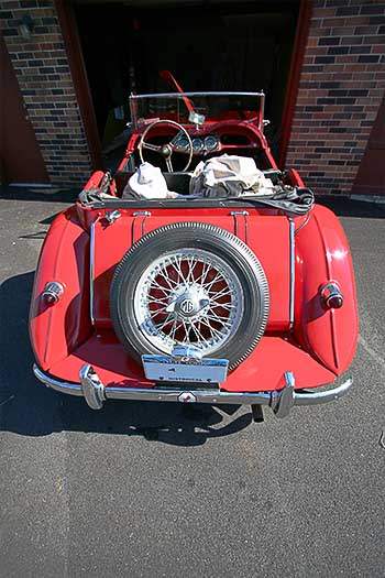 1950's MG TF roadster red convertible 1954 1955 1956 not sure exactly