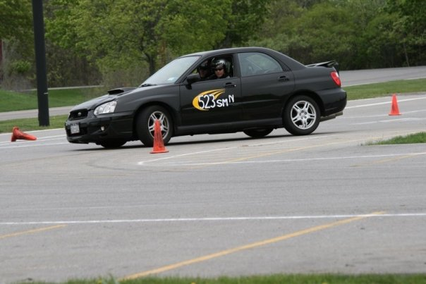 nate michals wrx at RIT SCCA FLR autocross 2008