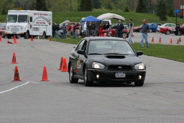 nate michals wrx RIT SCCA FLR autocross 2008